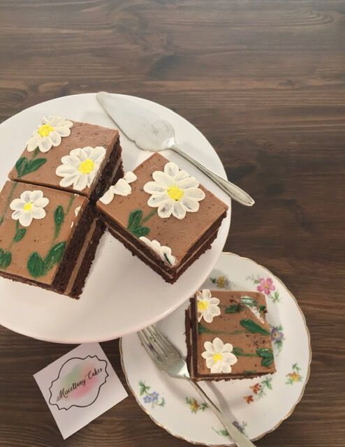 Buttercream Blossoms Tea Time Cake Double Chocolate