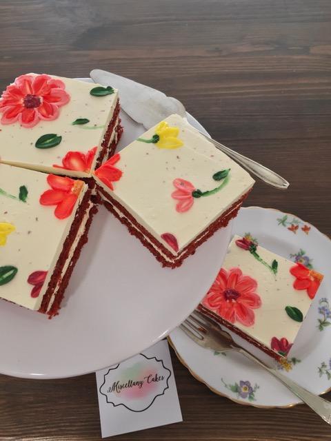 Buttercream Blossoms Tea Time Cake Red Velvet